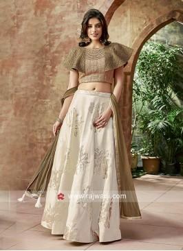 Art Satin Silk Designer Choli Suit