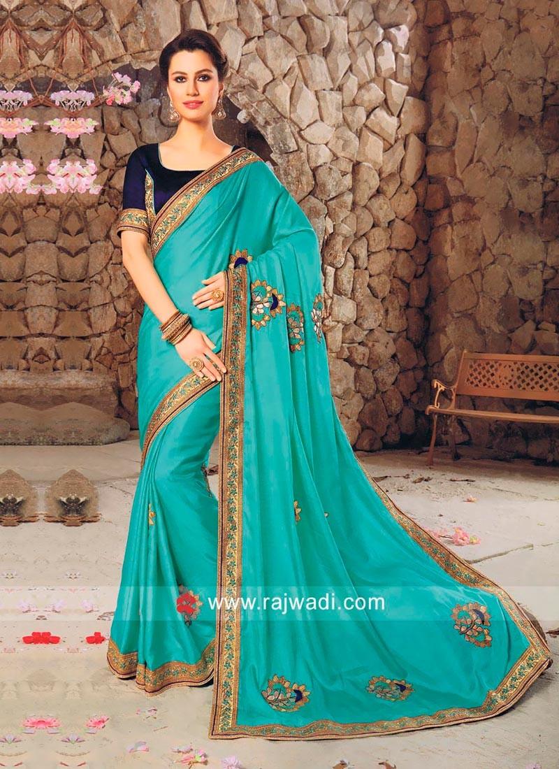 Art Satin Silk Designer Saree