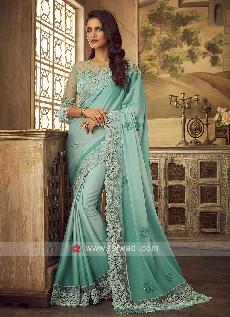 Art Satin Silk Reception Designer Saree