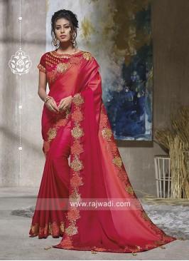 Art Satin Silk Shaded Saree