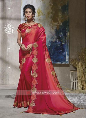 Art Satin Silk Shaded Saree