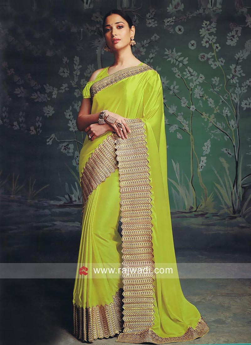 Art Satin Silk Tamannaah Bhatia Saree