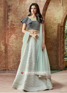 Art Satin Silk Wedding Lehenga Set