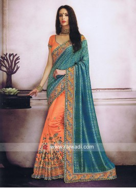 Art Silk and Banarasi Chiffon Half Saree