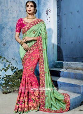 Art Silk and Banarasi Silk Half Saree