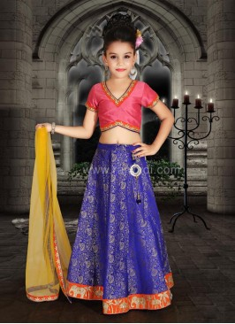 Art Silk and Brocade Designer Choli Suit