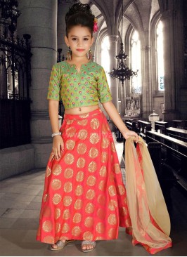 Art Silk and Brocade Wedding Choli Suit