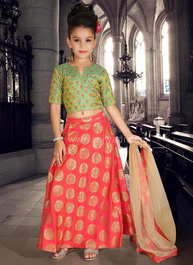 Art Silk and Brocade Wedding Choli Suit