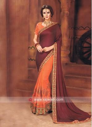 Art Silk and Jacquard Silk Half Saree