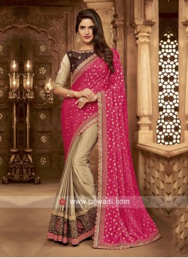 Art Silk and Raw Silk Half Saree