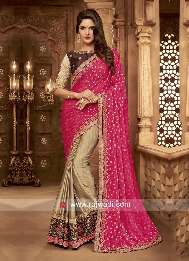 Art Silk and Raw Silk Half Saree