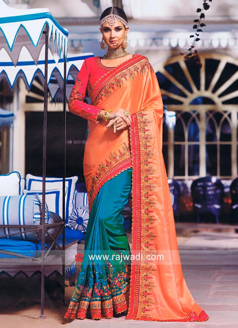 Art Silk and Satin Silk Half Saree