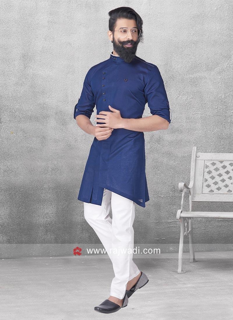 Blue Color Pathani Set