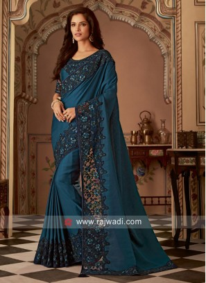 Art Silk Border Work Saree