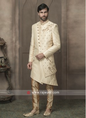 Art Silk Cream Indo Western