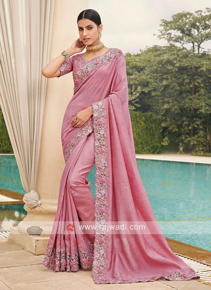 Art Silk Cutwork Saree