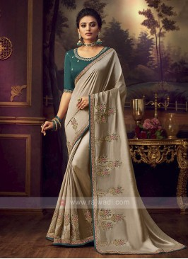 Art Silk Dark Beige Saree