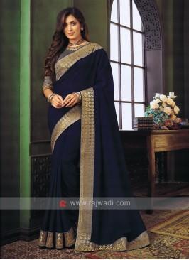 Art Silk Dark Blue saree