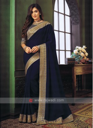 Art Silk Dark Blue saree
