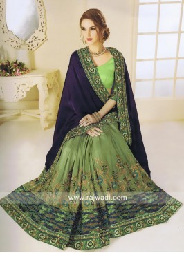 Art Silk Designer Half Saree