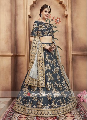 Art Silk Designer Lehenga Choli with Dupatta