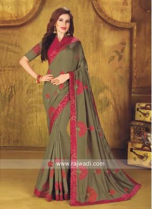 Art Silk Designer Saree with Blouse