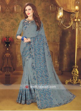 Art Silk Designer Saree with Border