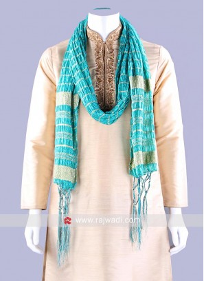 Art Silk Dupatta in Sea Green