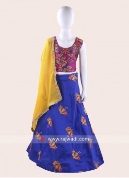 Art Silk Embroidered Chaniya Choli