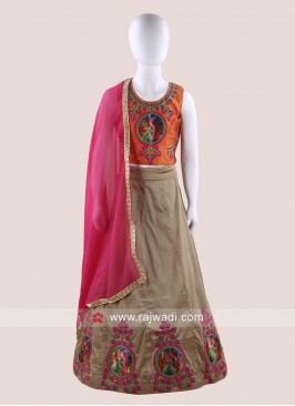 Art Silk Embroidered Ghagra Choli
