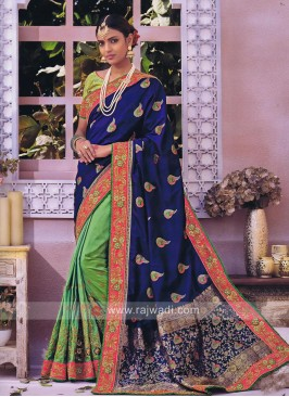 Art Silk Embroidered Half Saree