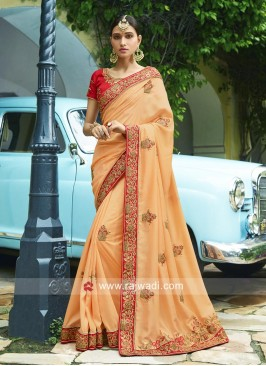 Art Silk Embroidered Saree