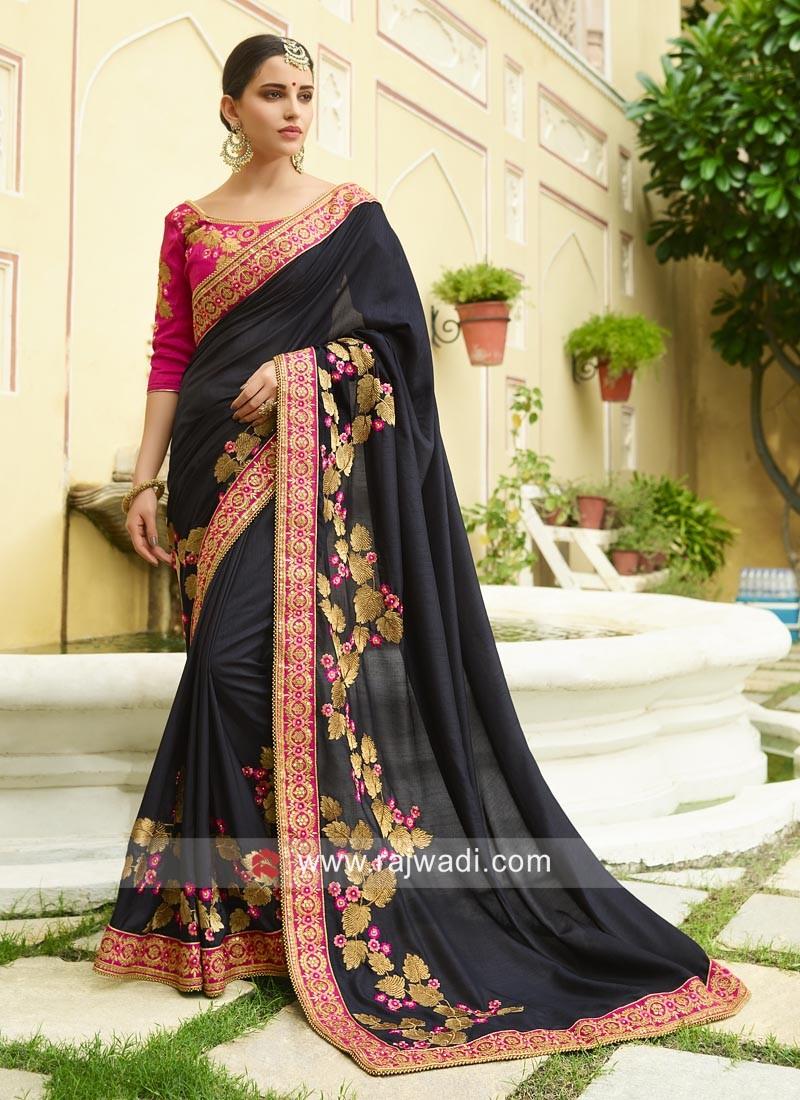 Art Silk Embroidered Saree
