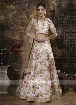 Art Silk Embroidery Lehenga Set