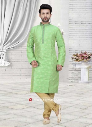 Art Silk Fabric Kurta Pajama For Wedding