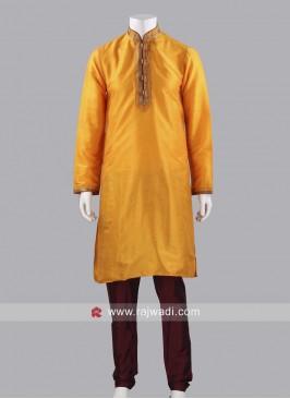 Art Silk Fabric Kurta Pajama For Wedding
