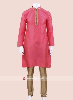 Art Silk Fabric Kurta Set For Wedding