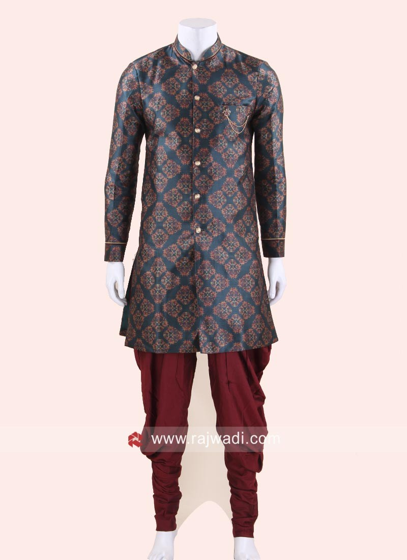 Art Silk Fabric Mens Indo Western