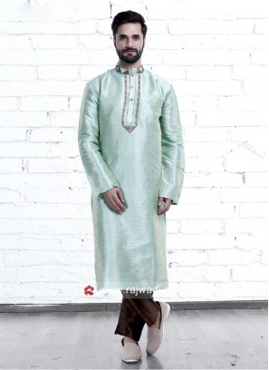 Art Silk Fabric Mens kurta Pajama