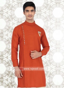 Linen Fabric Mens Kurta