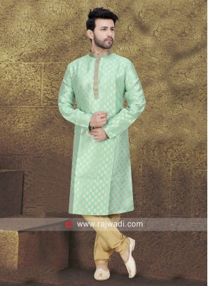 Sea Green Mens Kurta Pajama