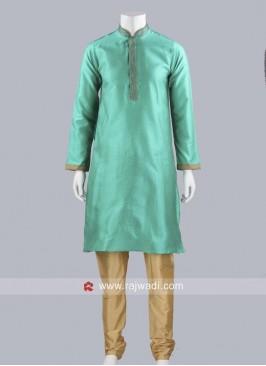 Art Silk Fabric Mens kurta Pajama