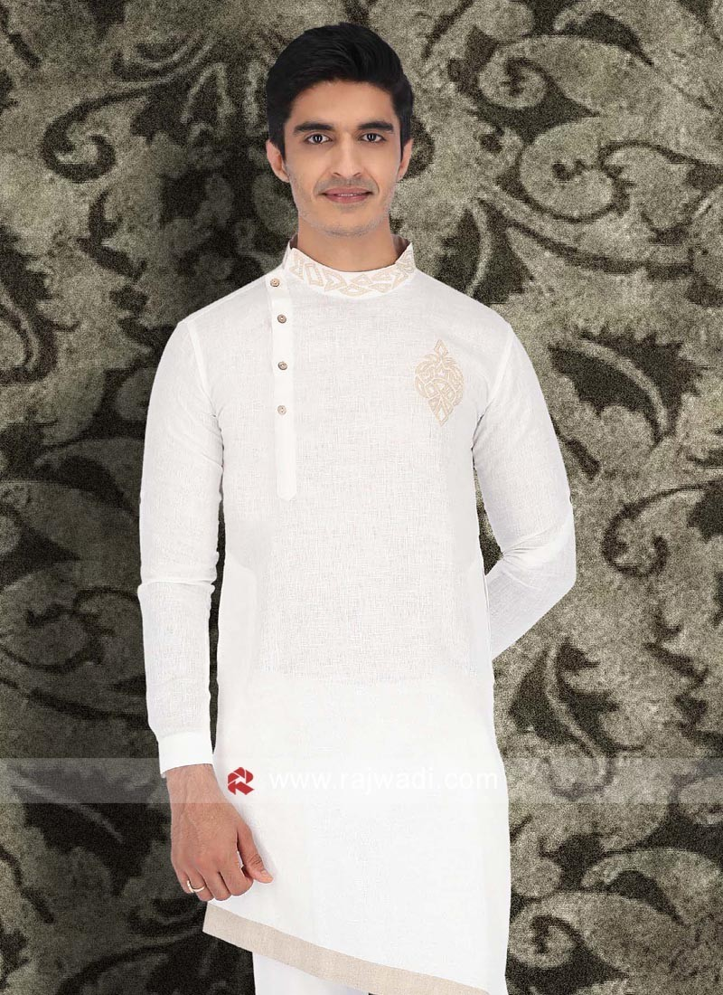 Marvelous White Color Kurta For Mens