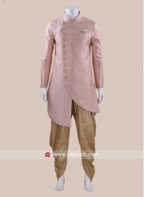 Art Silk Fabric Mens Patiala Suit