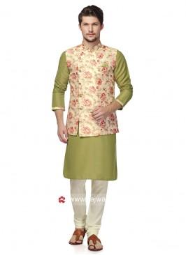 Brocade Silk Fabric Nehru Jacket