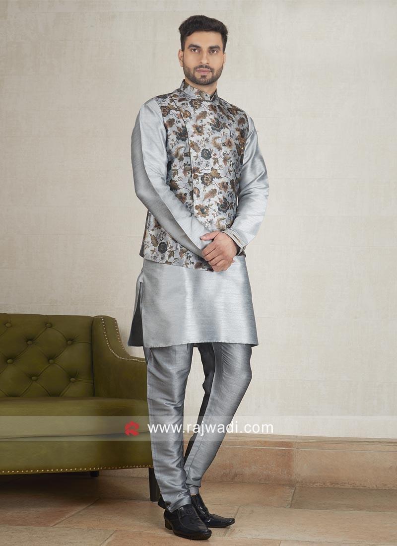 Art Silk fabric Nehru Jacket