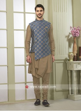 Art Silk fabric Nehru Jacket
