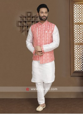 Art Silk fabric Party Wear Nehru Jacket