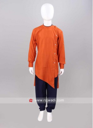 Art Silk Fabric Pathani For Kids