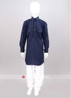 Art Silk Fabric Pathani Set